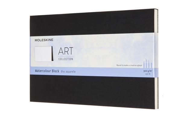 MOLESKINE Wasserfarbblock SC A5 603234 Aquarell, schwarz, 20 Seiten