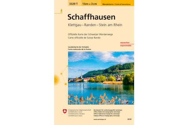 SWISSTOPO Wanderkarte Schaffhausen 3329T 1:33´333 wasserfest