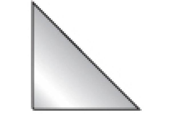 3L Dreieck Corner-Pockets 14x14cm 10019 transparent 100...