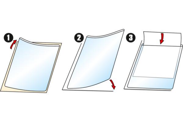 3L Sichttasche PP A6 10080 transparent, selbstklein 5 Stück
