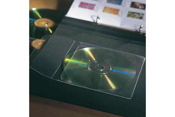 3L CD DVD Hülle 127x127mm 6832-10 PP, transparent, selbstklein10 Stück