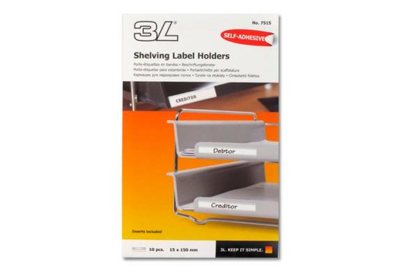 3L Beschriftungsfenster 15x150mm 7515-10 PVC, selbstklebend 10 Stück