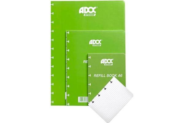 ADOC Ersatzblätter A5 3845.609 kariert 5x5 72 Blatt