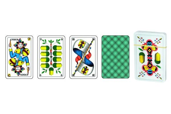 AGMÜLLER Jasskarten 3D 57x89mm 106801110 blau CH 36 Karten