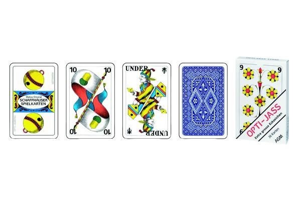 AGMÜLLER Jasskarten Opti 57x89mm 106801114 CH 36 Karten