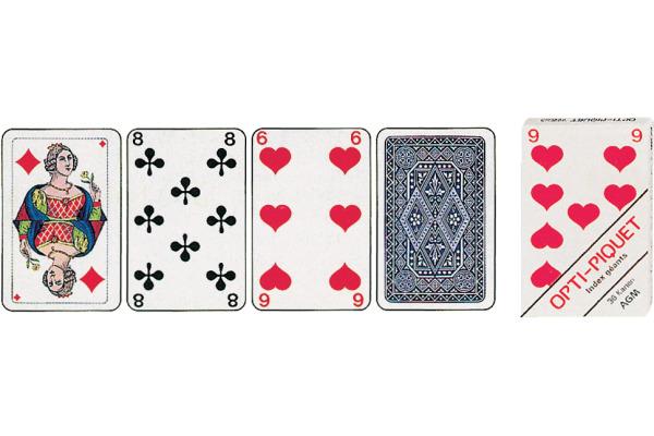 AGMÜLLER Jasskarten Piquet Opti 57x89mm 106801115 36 Karten