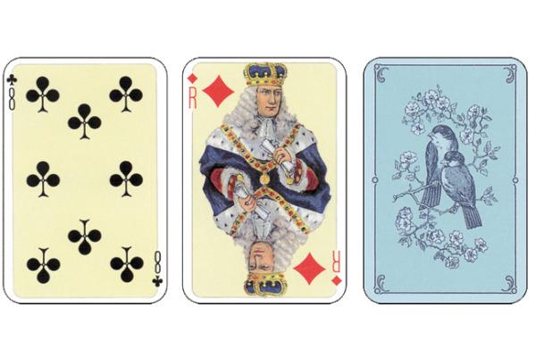 AGMÜLLER Patience Barock 42x63mm 11513002 blau 55 Karten