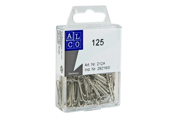 ALCO Büroklammern 26mm 212A eckig, verzinkt 125 Stück