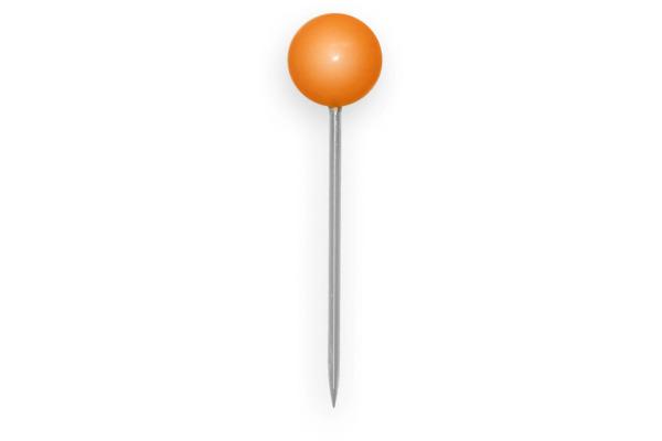 ALCO Landkartennadeln 5mmx16mm 619 orange 100 Stück