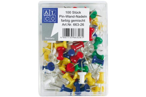 ALCO Pinwand-Nadeln 663-26 ass. 100 Stück