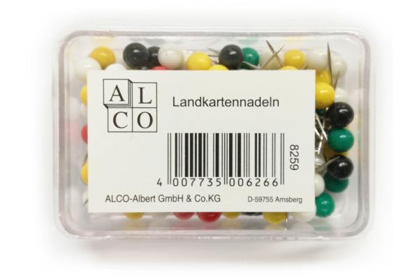 ALCO Landkartennadeln 8x16mm 826 farbig ass. 20 Stück
