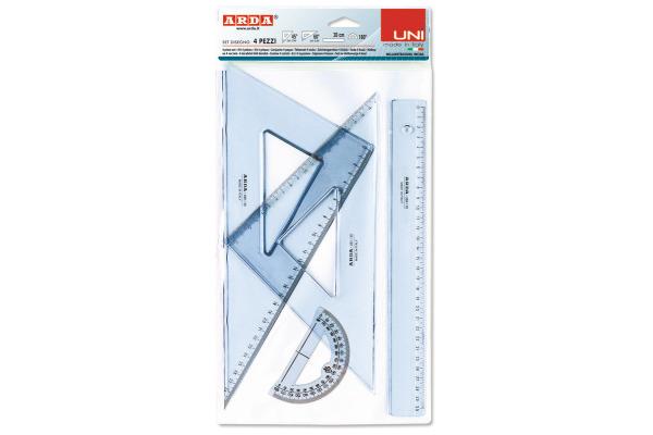 ARDA Zeichenset Set 30cm 70430SS UNI, 4 Stück