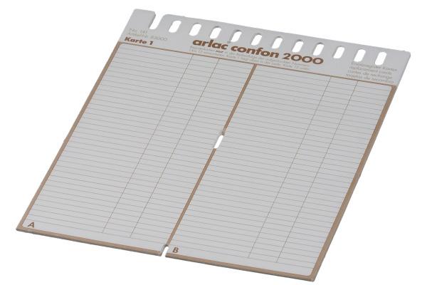 ARLAC Ersatz-Register 830 Confon 2000