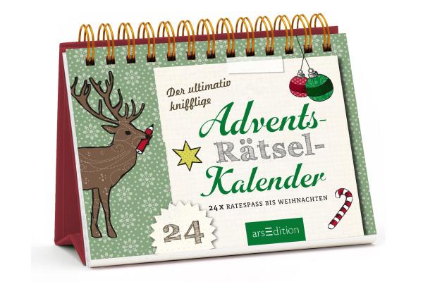 ARS EDITI Adventskalender Aufsteller 489101192 Advetns-Rätsel 17x14,5cm