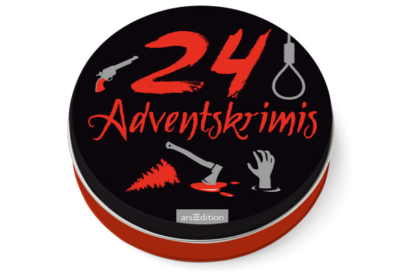 ARS EDITI Adventskalender in der Dose 489115229 Adventskrimis 12cm