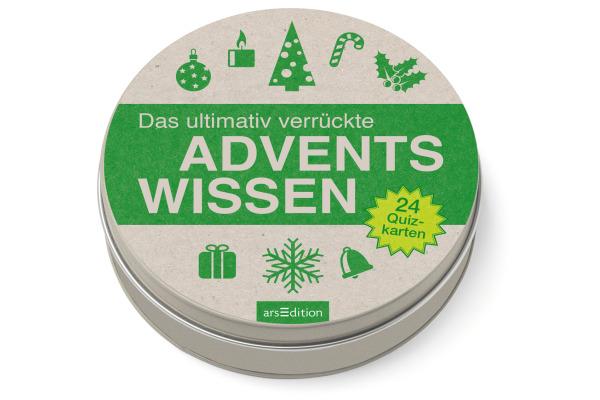 ARS EDITI Adventskalender in der Dose 489115243 Advetnswissen 12cm