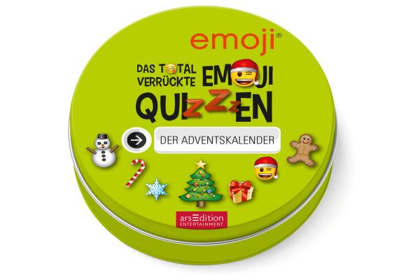 ARS EDITI Adventskalender in der Dose 489115250 Emoji Quizzen 12cm