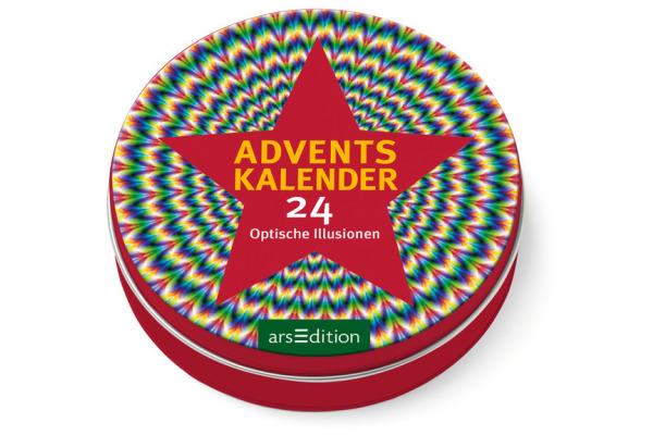 ARS EDITI Adventskalender in der Dose 489112303 Optische Illusionen 12cm