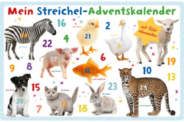 ARS EDITI Adventskalender 62x40.2cm 489118831 Mein Streichel-Adventskal.