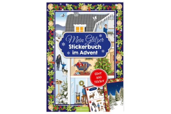 ARS EDITI Adventskalender 21x29.7 845826806 Mein Glitzerstickerbuch