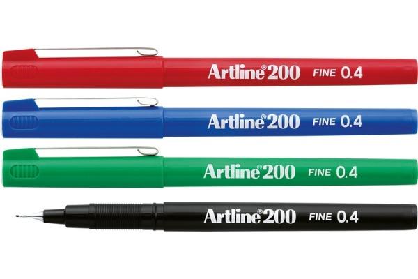 ARTLINE Fineliner 0,4mm EK-200-S schwarz