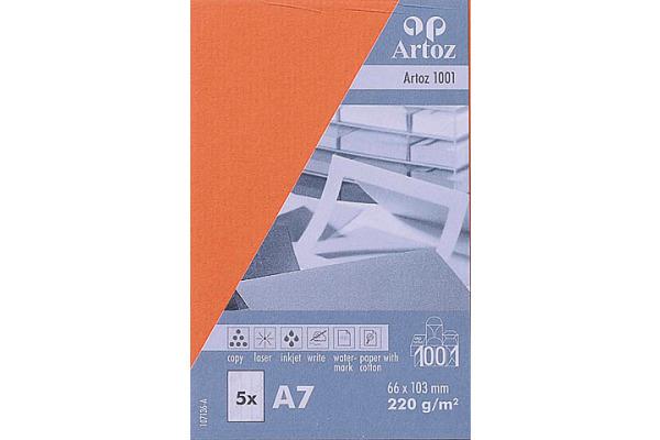 ARTOZ Visitenkarten 1001 A7 107136145 220g, rot 5 Blatt