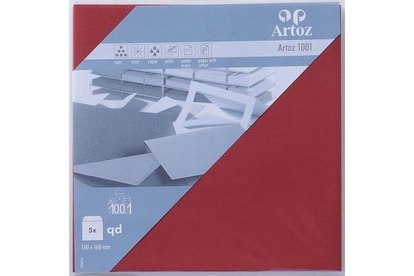 ARTOZ Couverts 1001 160x160mm 107454185 100g, weinrot 5 Stück