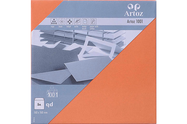 ARTOZ Couverts 1001 160x160mm 107454185 100g, hummerrot 5 Stück