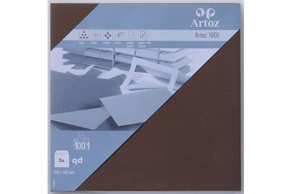 ARTOZ Couverts 1001 160x160mm 107454186 100g, braun 5 Stück