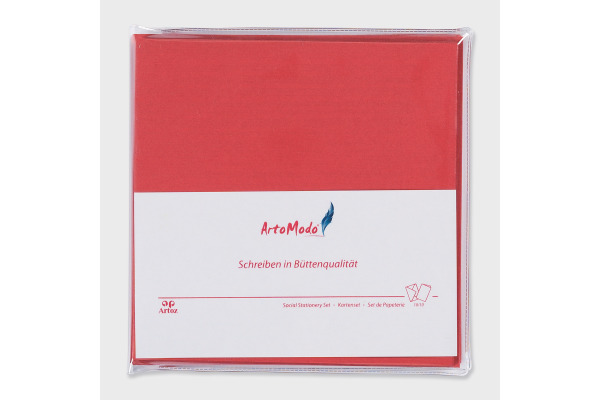 ARTOZ Karten/Couverts 15,5x15,5cm 139945015 rot 10 Stück
