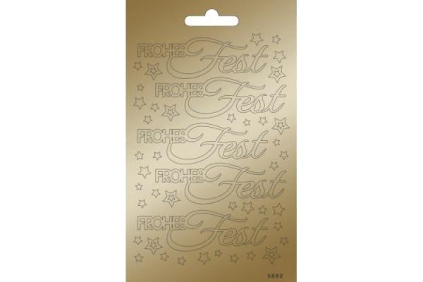 ARTOZ Collato Sticker 100x165mm 183208879 Frohes Fest Sterne, kupfer