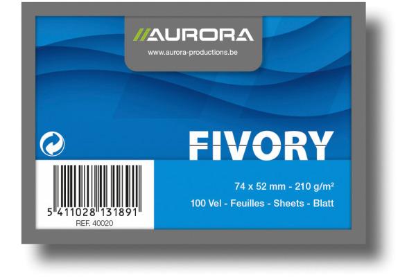 AURORA Karteikarten liniert A8 40020 weiss 100 Stück