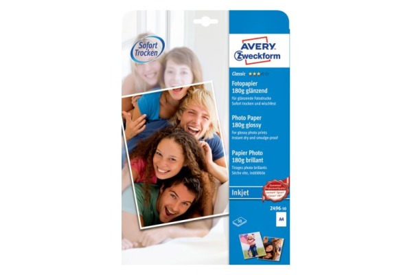 AVERY ZW. Classic InkJet Photo Papier A4 2496-50 180g 50 Blatt