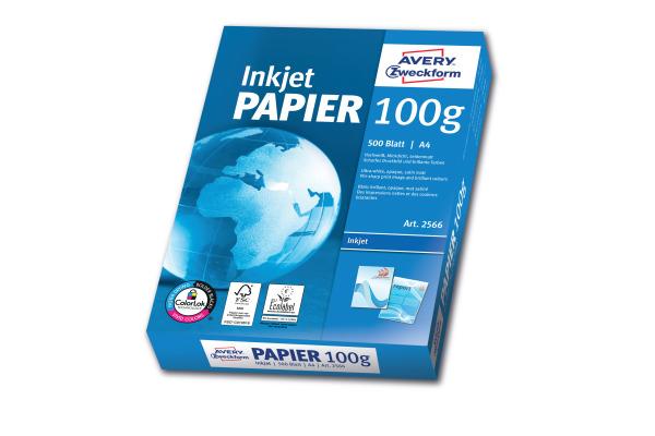 AVERY ZW. InkJet-Papier A4 2566Z 100g, weiss 500 Blatt