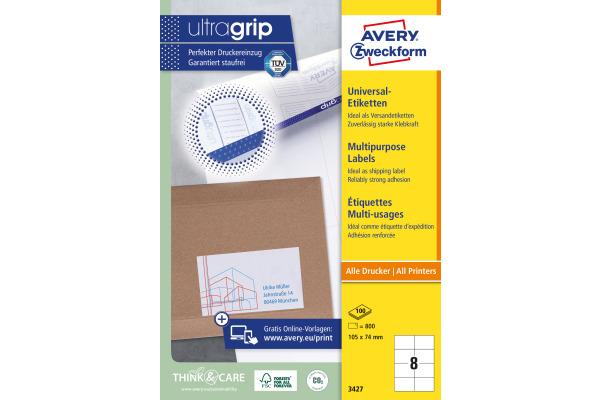 Kores Etiketten 105x74,0 mm 100 Blatt Adressetiketten 800 Universaletiketten