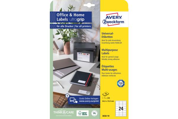 DIN A4-100 Blatt 63,5 x 33,9mm 24 Etiketten pro Blatt Laser Drucker Etiketten