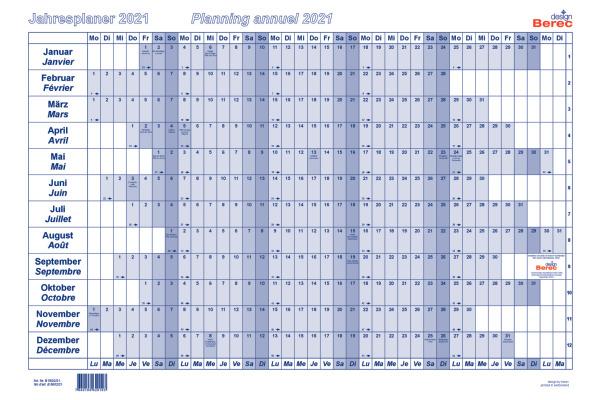 BEREC Papierjahresplan A2 B5602/21 2021, blau