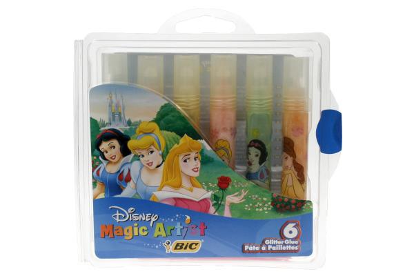 BIC Glitter Glue Princess 826.471 6 Stück