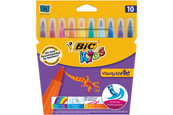 BIC Kid Visaquarelle 4,5mm 828964 10 Farben, Etui