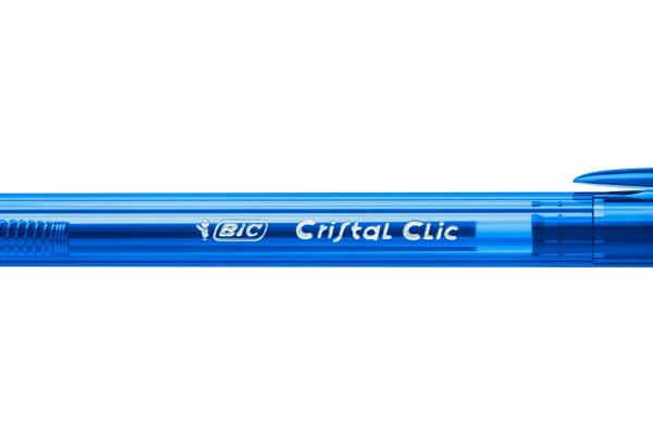BIC Kugelschreiber Cristal Clic 1mm 8507332 blau 20 Stück