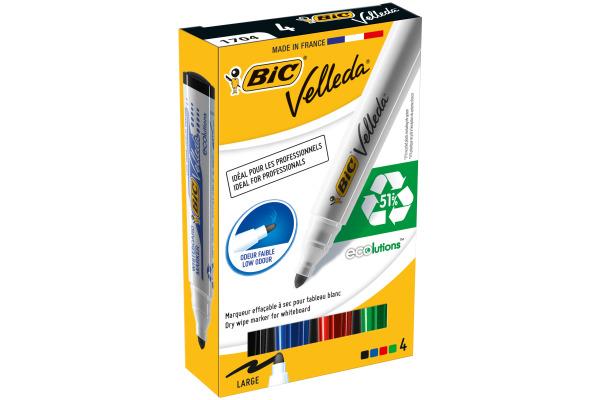BIC Marker Velleda 1701 1,5mm 904941 4er Etui