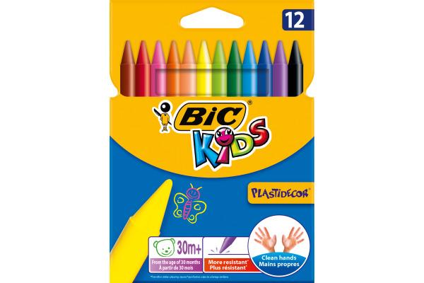 BIC Wachsmalstifte Kids 945764 12 Farben Etui