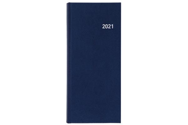 BIELLA Geschäftsagenda Tower 2021 0800311.0 13,5x31,5cm 1T/2S blau d/f/i/e