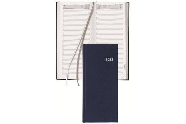 BIELLA Geschäftsagenda Tower 2022 0800311.0 13,5x31,5cm 1T 2S blau d f i e