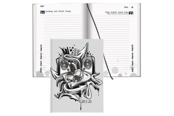 BIELLA Schüleragenda mydiary Music 0806514.8 12x16.5cm, 20 21