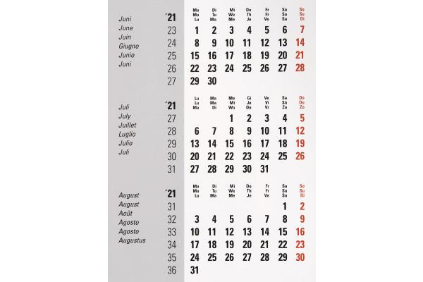 BIELLA Pultkalender Desktop Frame 0883511.0 18x11 cm, 3M/1S, Inhalt, 2021