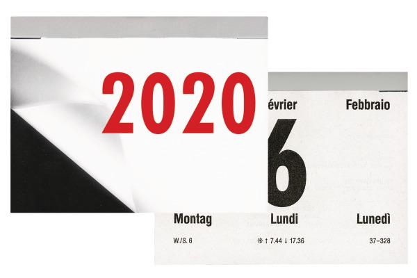 BIELLA Abreisskalender Nummer 4 quer 0889044.0 1T S d f i 10,5x8cm, 2020