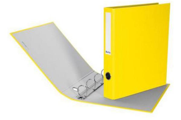 BIELLA Zeigebuch Dinor-Quatro 4cm 126444.20 gelb, 4-Ring A4