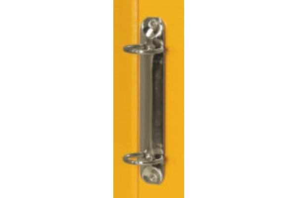 BIELLA Ringhefter Viria 25mm 151403.20 gelb, 2-Ring A4