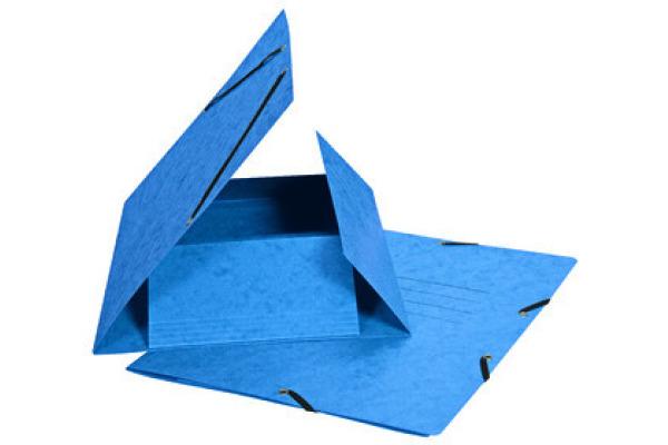 BIELLA Gummibandmappe A4 178401.05 blau, 355gm2 200 Bl.